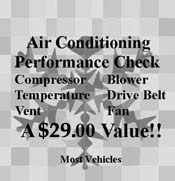 Air Conditioning Performance Check